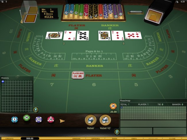 play Baccarat at Red Flush Casino