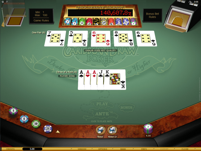 play Caribbean Draw Poker at Red Flush Casino