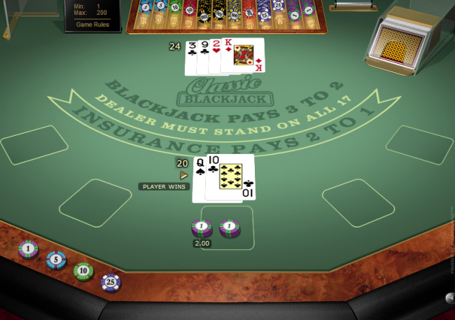 play Blackjack at Casino Action