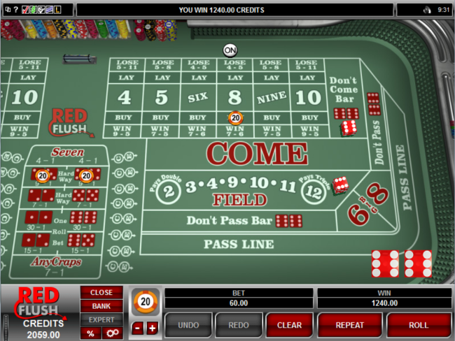 play Craps at Red Flush Casino