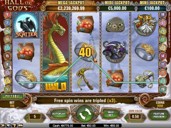 Hall Of Gods Progressive Video Slot