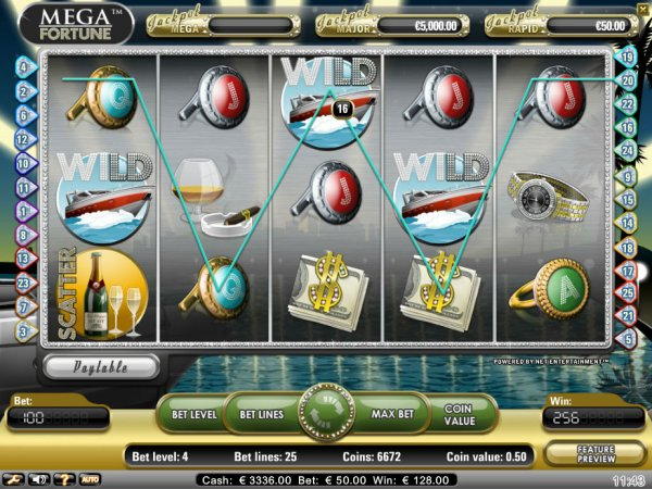 Mega Fortune Progressive Video Slot