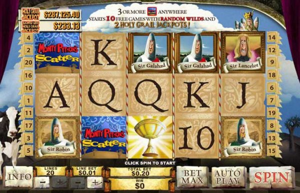 Spamalot Progressive Video Slot