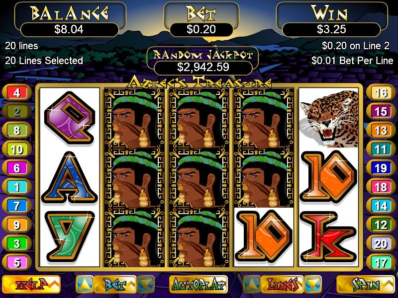 Aztecs Treasure Slot - Try your Luck on this Casino Game