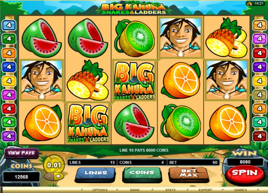 Big Kahuna – Snakes & Ladders™ Slot Machine Game to Play Free in Microgamings Online Casinos