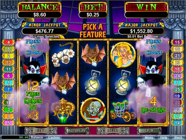 The Return of Dracula Slot - Play Penny Slots Online