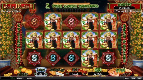 play God Of Wealth at Intertops Casino
